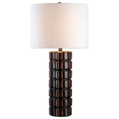 Kenroy Home Sector Table Lamp in Maple