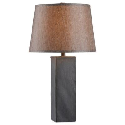 Kenroy Home Tablet Table Lamp in Grey/Black