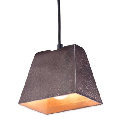 Zuo® Pure Auckland Ceiling Lamp in Rustic Black