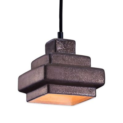 Zuo® Pure Wellingston Ceiling Lamp in Rustic Black