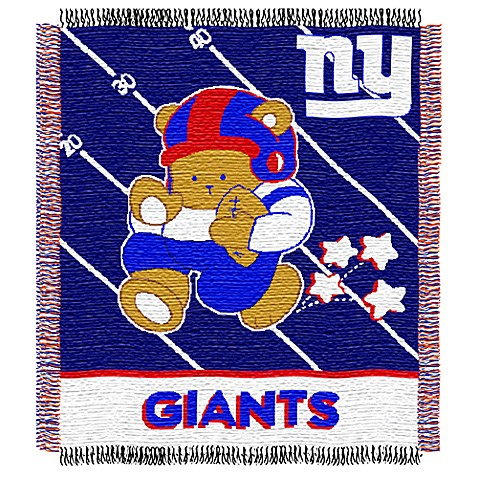 NFL New York Giants Woven Jacquard Baby Blanket/Throw