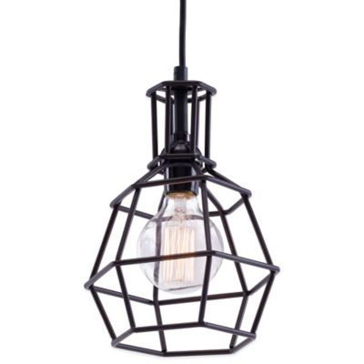 Zuo® Pure Christchurch Ceiling Lamp in Distressed Black