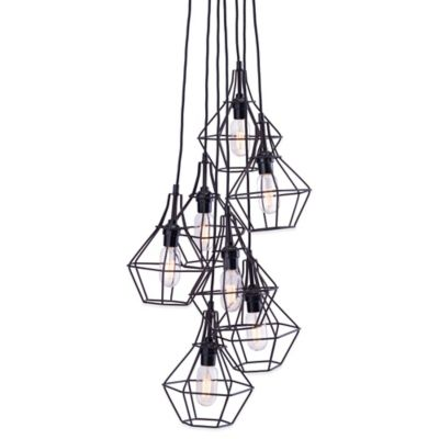 Zuo® Palmerston 7-Light Ceiling Lamp in Distressed Black