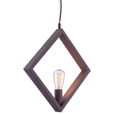 Zuo® Pure Rotorura Ceiling Lamp in Rust