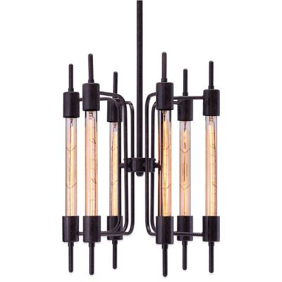 Zuo® Pure Gisborne 6-Light Ceiling Lamp in Distressed Black