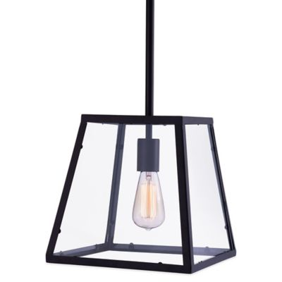 Zuo® Pure Taupo Ceiling Lamp in Distressed Black