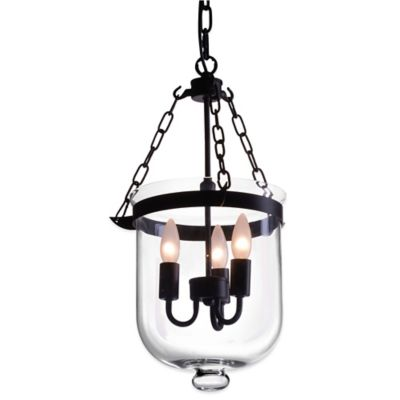 Zuo® Pure Masterton 3-Light Ceiling Lamp in Distressed Black