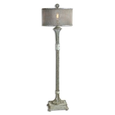 Uttermost Pontoise Floor Lamp in Ivory/Bronze with Screen Shade
