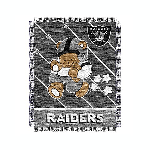 NFL Oakland Raiders Woven Jacquard Baby Blanket/Throw