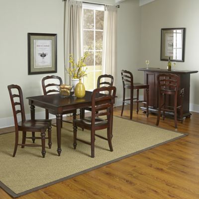 Home Styles Colonial Classic 8-Piece Dining and Bar Set