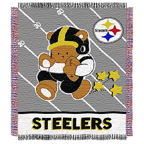 NFL Pittsburgh Steelers Woven Jacquard Baby Blanket/Throw