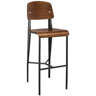 Modway Cabin Barstool in Natural/Black