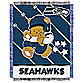 NFL Seattle Seahawks Woven Jacquard Baby Blanket/Throw