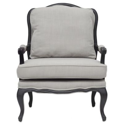 Baxton Studio Antoinette Classic French Accent Chair in Beige