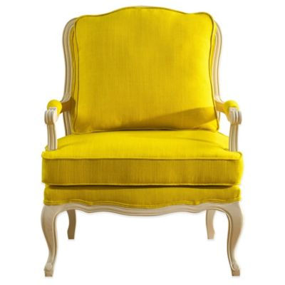 Baxton Studio Antoinette Classic French Accent Chair in Yellow