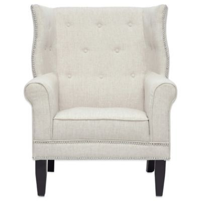 Baxton Studio Kyleigh Linen Modern Arm Chair in Beige