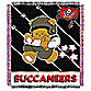 NFL Tampa Bay Buccaneers Woven Jacquard Baby Blanket/Throw
