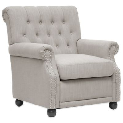 Baxton Studio Moretti Linen Modern Club Chair in Grey