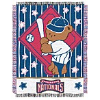 MLB Washington Nationals Woven Jacquard Baby Blanket/Throw