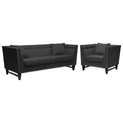 Baxton Studio Sofa and Chair Set