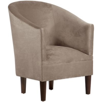 Skyline Furniture Velvet Tub Chair in Mystere Hacienda