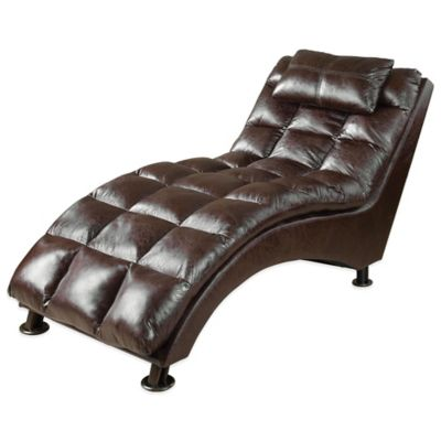 Uttermost Toren Tufted Chaise Lounge in Brown