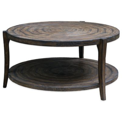 Uttermost Pias Rustic Coffee Table in Java