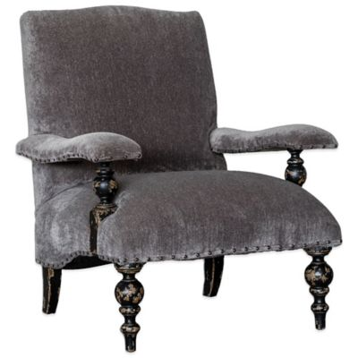 Uttermost Eavan Chenille Armchair in Grey