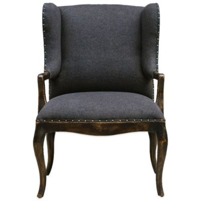 Uttermost Chione Armchair in Black
