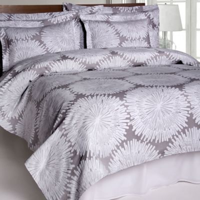 Belle Epoque™ Burst Matelasse Twin Coverlet in Grey/White