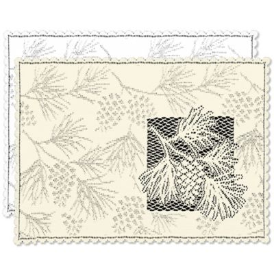 Heritage Lace® Woodland Placemat in White