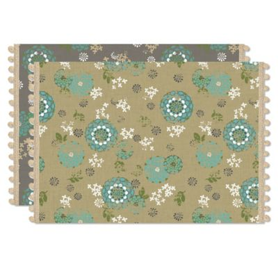 Heritage Lace® Zinnia Placemat in Grey