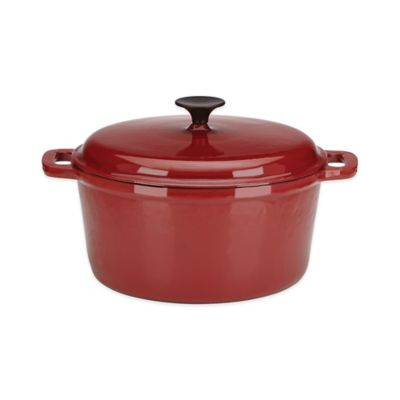 Lenox® Rick Bayless 6 qt. Round Dutch Oven by Gorham® in Red