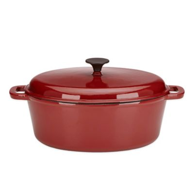 Lenox® Rick Bayless 6 qt. Oval Dutch Oven by Gorham® in Red