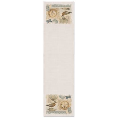 Heritage Lace® Shorebirds 16-Inch x 60-Inch Table Runner in Oyster
