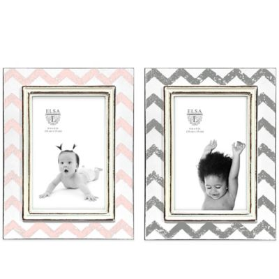 Pink/White Picture Frames
