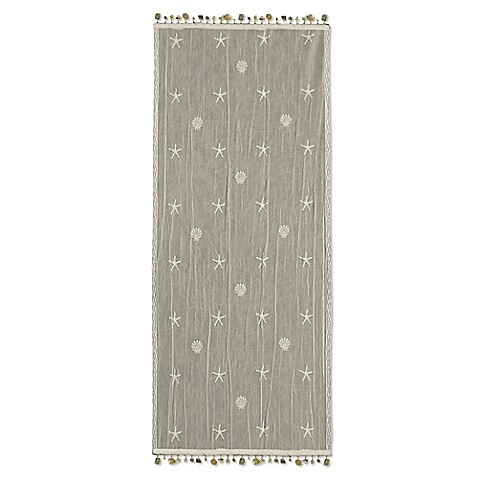 buy heritage lace sand shell 15 inch x 36 inch table runner in ecru from bed bath beyond. Black Bedroom Furniture Sets. Home Design Ideas