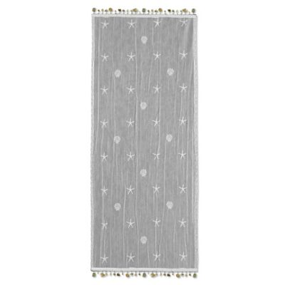 Heritage Lace® Sand Shell 15-Inch x 36-Inch Table Runner in White