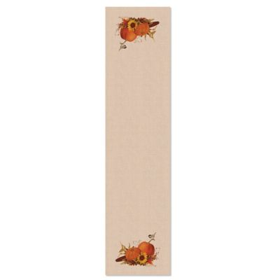 Heritage Lace® Harvest Pumpkin 16-Inch x 60-Inch Table Runner