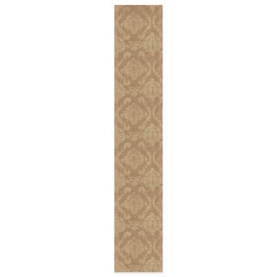 Heritage Lace® Burlap Damask 13-Inch x 72-Inch Table Runner in Gold