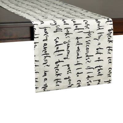 kate spade new york Small Talk 72-Inch Table Runner