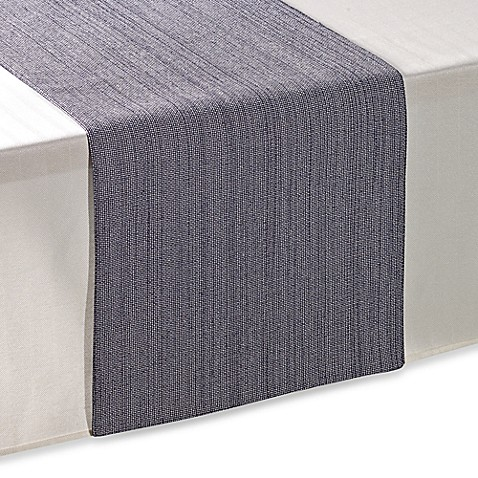 buy brunswick 90 inch table runner in blue from bed bath