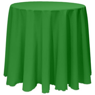 Basic 108-Inch Round Tablecloth in Emerald
