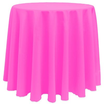Neon Pink Round Tablecloth
