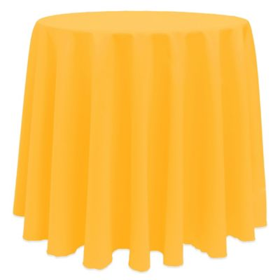 Neon Orange Round Tablecloth