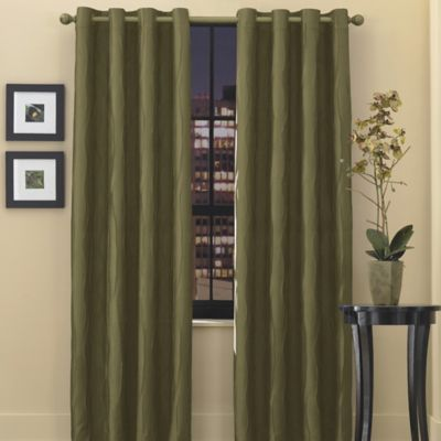 Venice Grommet Top 72-Inch Window Curtain Panel in Olive