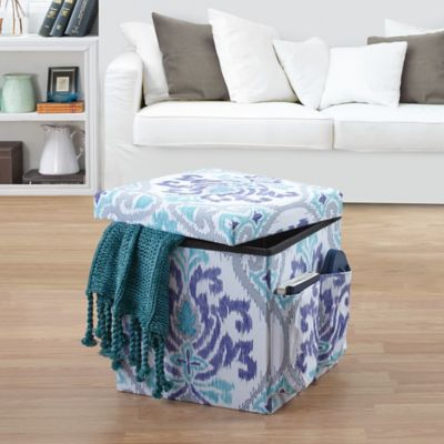 Anthology™ Jolie Folding Ottoman in Blue