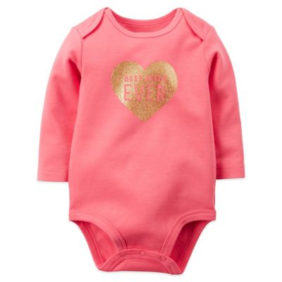 "Carter's® Size 3M ""Best Niece Ever"" Long Sleeve Bodysuit in Pink"