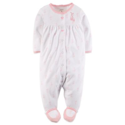 Carter's® Size 3M Ballet Sleep n' Play Footie in Ivory/Pink
