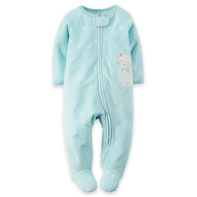 Carter's® Size 3M Cat Sleep n' Play Footie in Turquoise